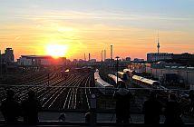 Sonnenuntergang an der Modersohnbrücke