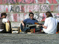 Musiker im Mauerpark