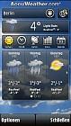 Accu Weather auf dem Nokia 5800