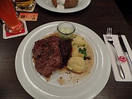 Kuh auf dem Teller