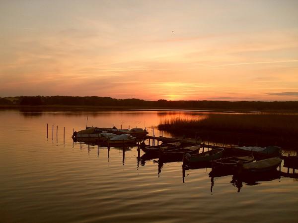 Sonnenuntergang am Wreecher See